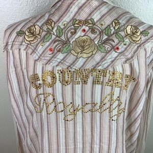 Country Royalty Embroidered Cowgirl Shirt